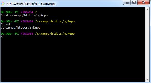 פקודת pwd ב-Git