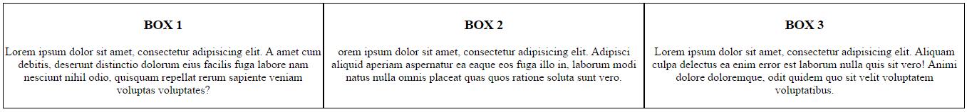 3 אלמנטים זה לצד זה באמצעות flex