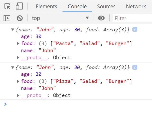 לאחר השימוש ב-JSON.stringify ו-JSON.parse האובייקט שוכפל ללא קשר ל-References.