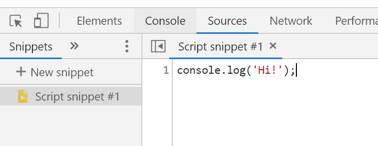 הוספת snippet (קטע קוד) חדש.