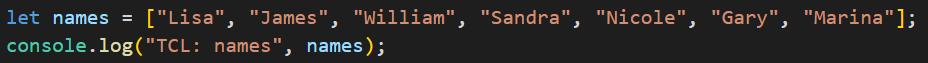 שורת console.log נוספה אל הקוד